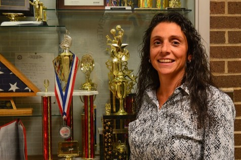 Mr. Settembrino receives NJIC Meadowlands Girls' Volleyball Coach of the Year award