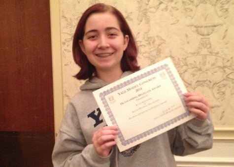 Becton Debate students are awarded certificates at 2014 Yale Model Congress