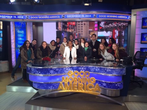 Journalism class experiences live taping of Good Morning America