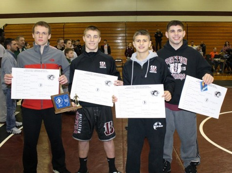 Becton Wallington Wrestling Team wins multiple titles at District 15