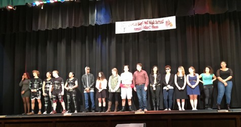 All of the talent show acts at the conclusion of the night