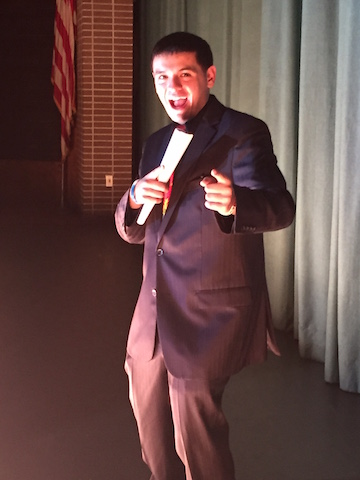 Co-host Zak Kandiel is ready to start the show.