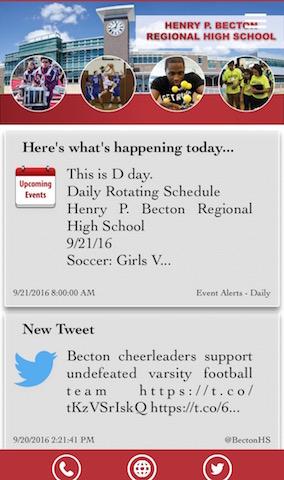 Media Specialist Ms. Vaccaro creates, updates Becton app