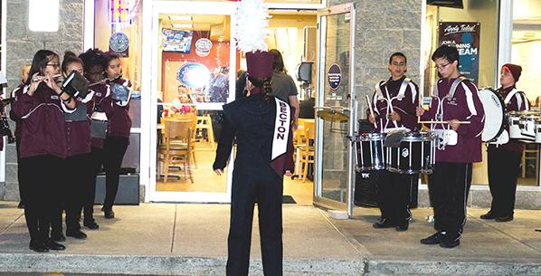 The Becton Band played at the grand opening of Jersey Mike's Sub Shop.