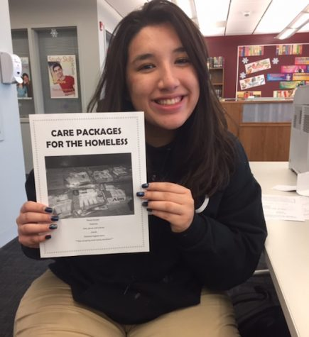 Senior Soler donates 83 care packages to homeless