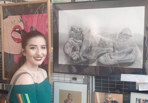 Senior Beneduci places second in art contest