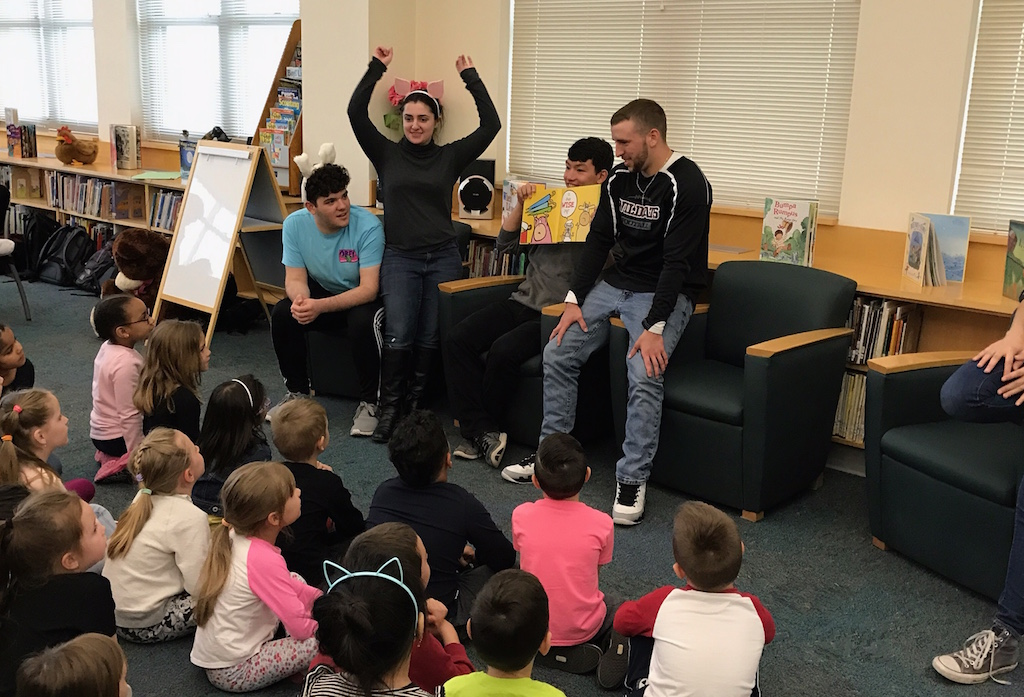 NHS members visit CPS to promote literacy