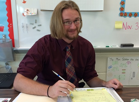 Student Teacher Mr. Walsh aspires to be English instructor