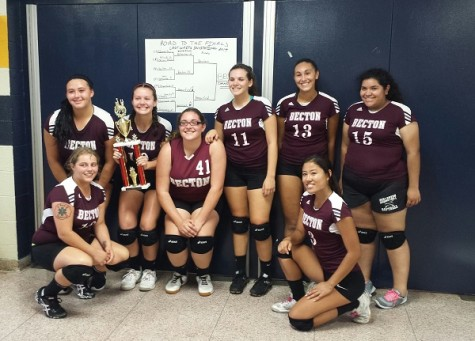 Undefeated Becton Volleyball Team wins first County League Title in 30 years