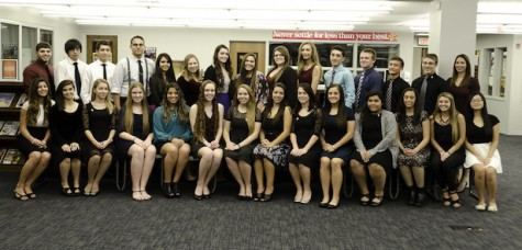 14 students of academic excellence, dedication inducted into National Honor Society