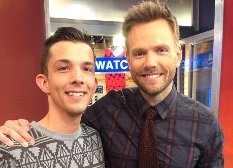Phil met television personality and host of The Soup,  Joel McHale, this past July.