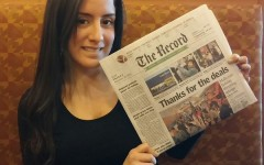 Anzidei, 2009 Becton graduate, writes front page news for The Record