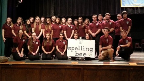 NHS hands over spelling bee trophy to Rutherford High School