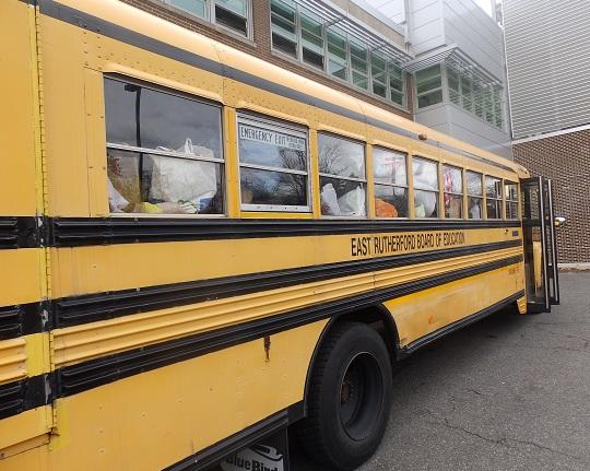 Becton community donations fill entire bus for Stuff the Bus charity drive