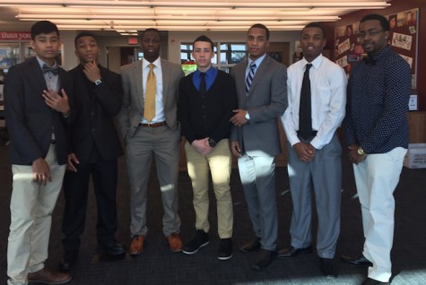 The boys get dressed up on the day of each game.