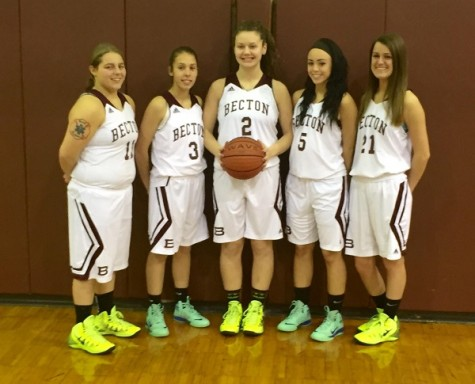 The senior girls enjoy their last season as a Becton Wildcat.
