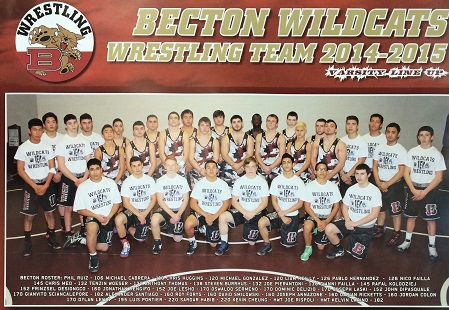 The 2014-2015 Becton Wrestling Team