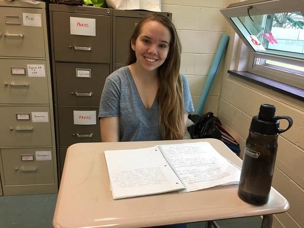Senior Renee Kochinski practices her leadership skills as Student Council President.