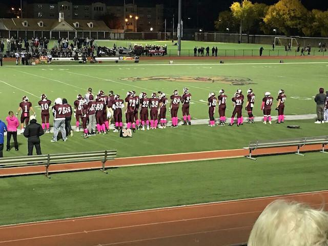 The+football+team+plays+Park+Ridge+for+Becton%27s+Homecoming+and+Pink+Out+Game.