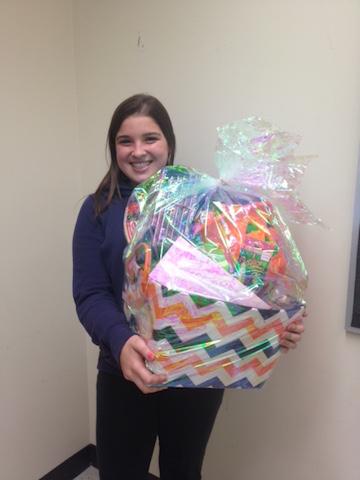 The 2015 Halloween Basket Raffle winner is Sophomore Alexa Felten. The raffle was a junior class fundraiser.