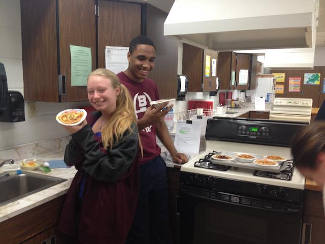 Culinary II students are showing off their mouth-watering Quiche Lorraine.