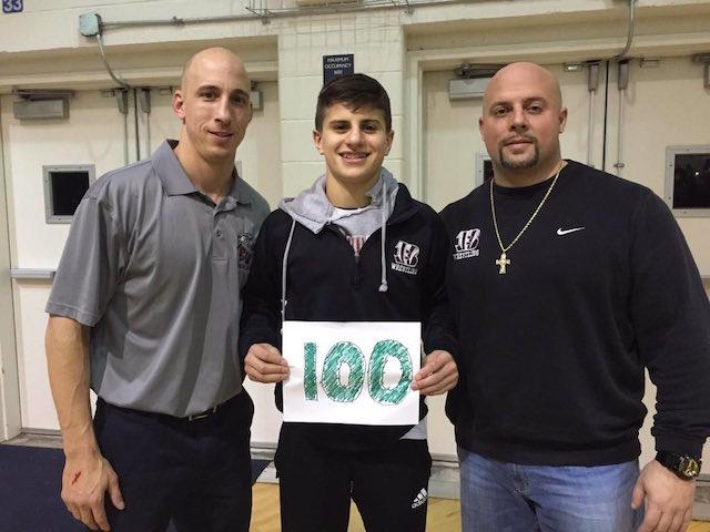 Junior Phil Ruiz is celebrating his 100th win.
