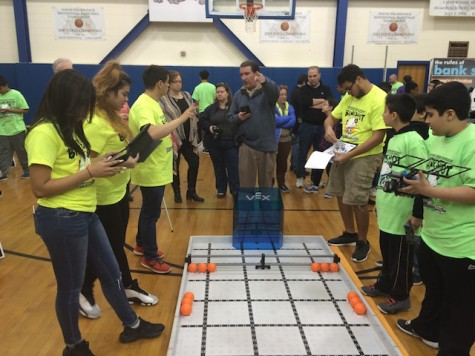 Becton Robotics Club referees middle school tournaments