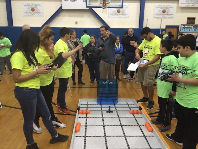 Becton Robotics Club referees middle school tournaments