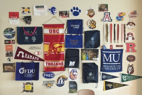 """The hall of fame """"college wall"""" in Ms. Ferris' room"""
