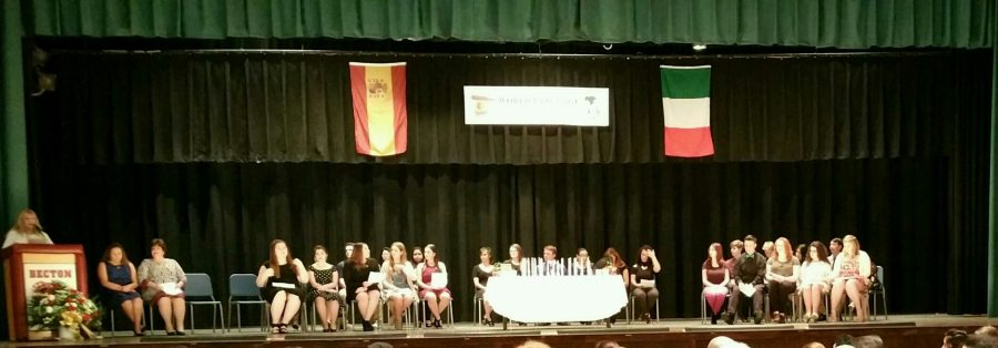 Becton Inducts New Members to World Language Honor Society