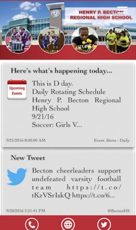 Media Specialist Ms. Vaccaro creates, updates Becton app