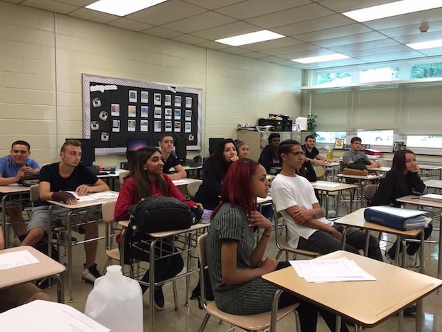 Mrs. Scalera's English 12 class learns about college and career readiness.
