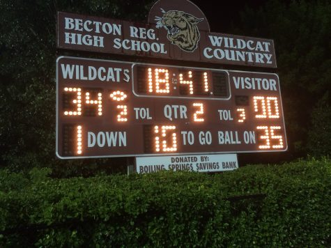 The score against Bogota at halftime was 34-0.