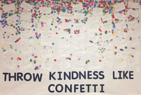 Ms. Prinzo has created a bulletin board for any Becton community member to express words of kindness to one another.