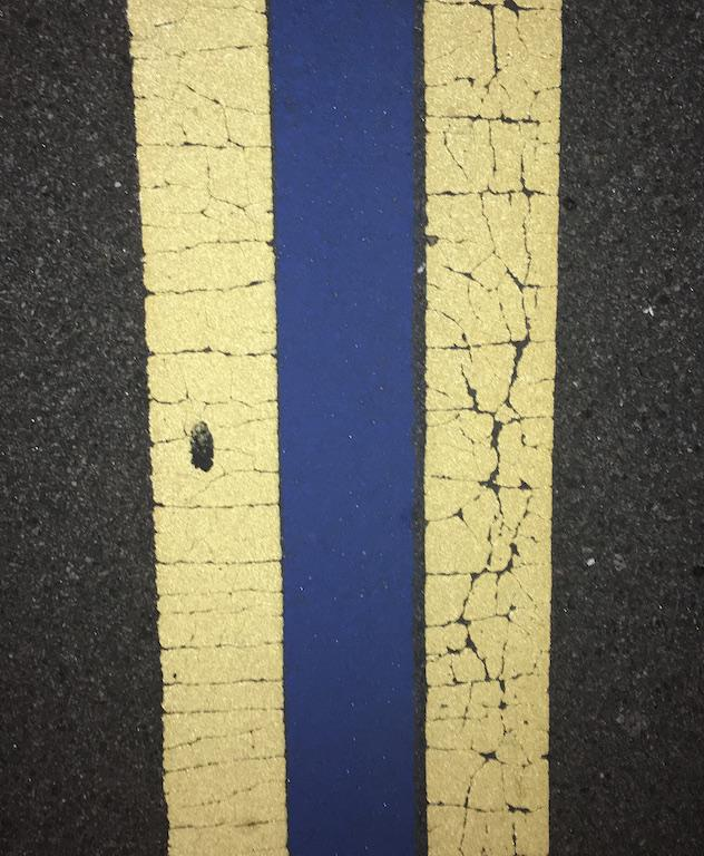 Th blue line was painted on Sept. 21.