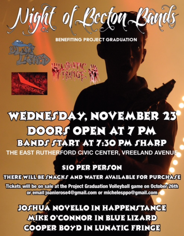 Project Graduation Committee to host Night of the Becton Bands fundraiser