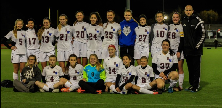The 2016-2017 Becton Girls' Soccer Team wins the NJIC Meadowlands Conference.