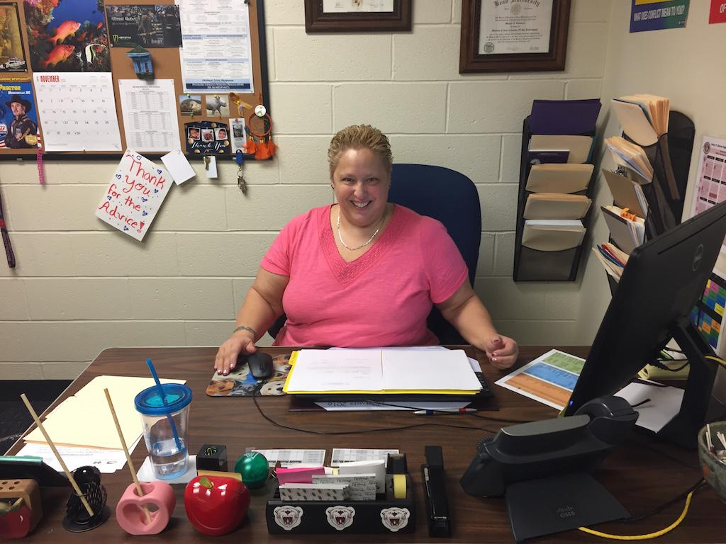 """Ms. Klamerus says she wants to inspire students to """"become more independent in their school environment and help younger students."""""""