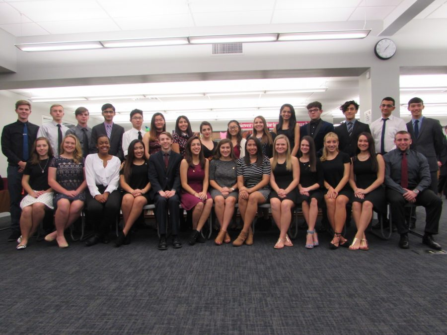 Twenty-five Becton students inducted into National Honor Society