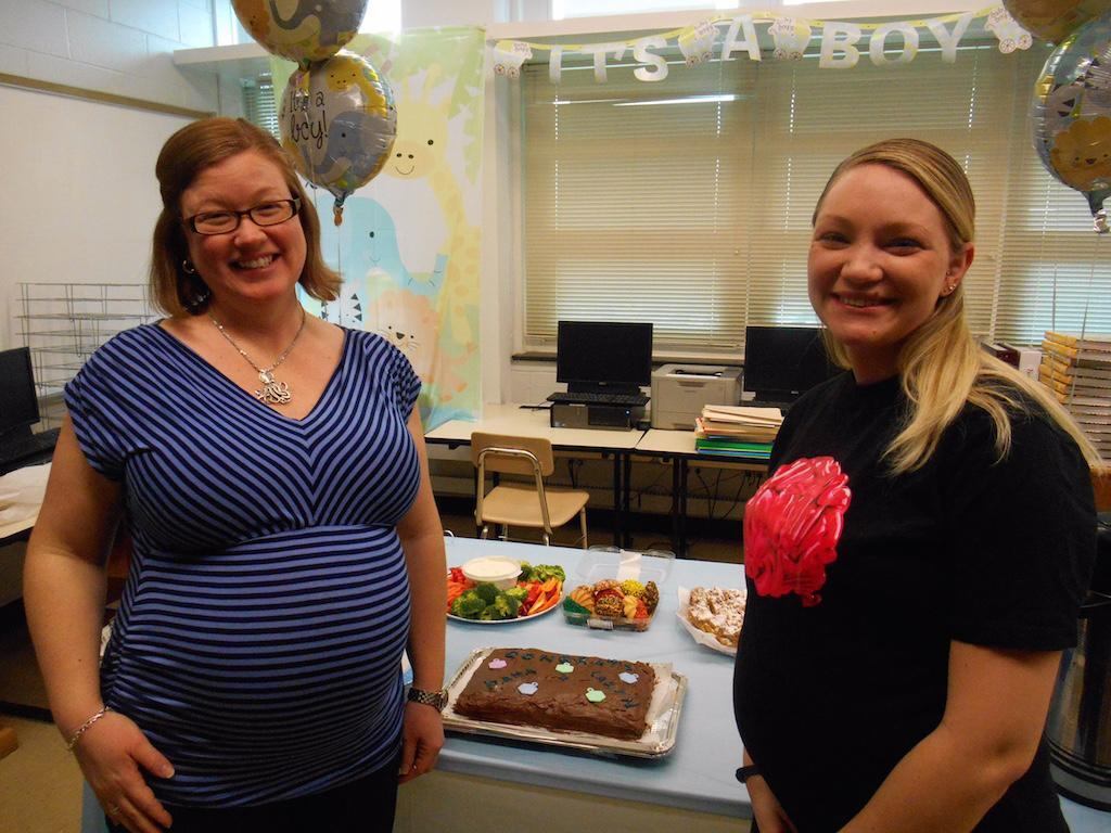 Mrs. Muniz and Ms. Peck are both expecting boys this spring.