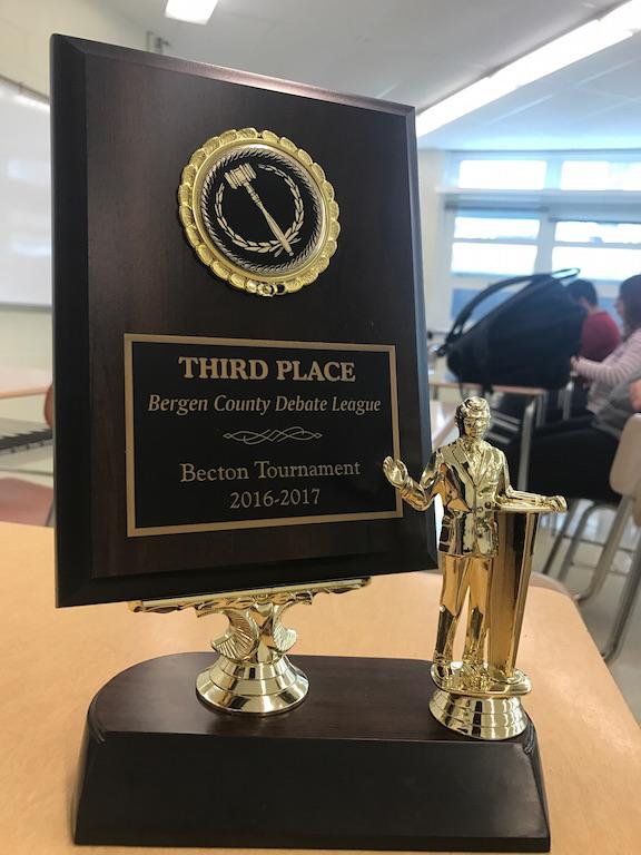 Ryan Strauss and Zak Kandiel placed third at the Becton Varsity Debate this month.
