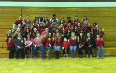 The faculty, staff and students wore red on February 3 for Heart Health Month.