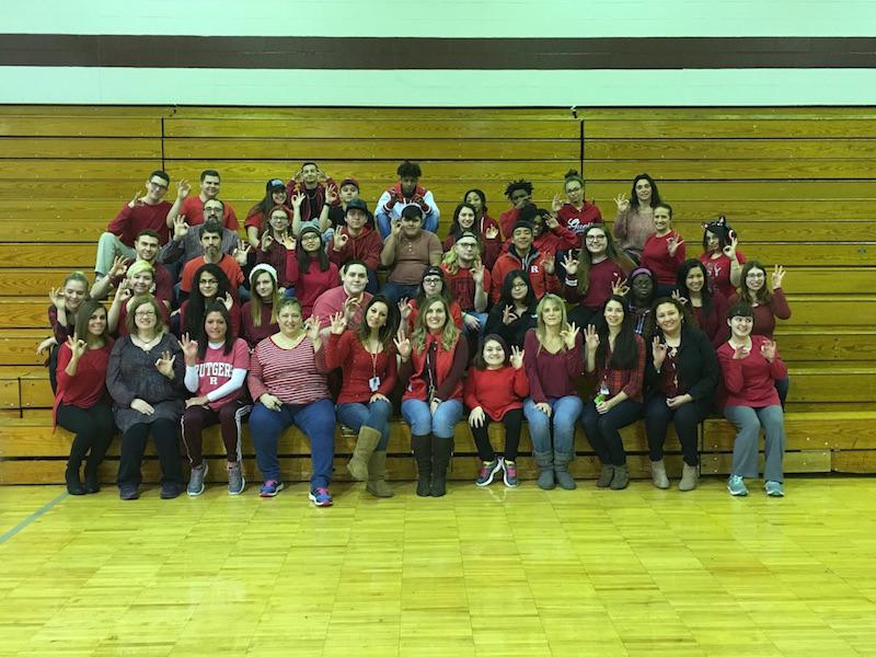 The+faculty%2C+staff+and+students+wore+red+on+February+3+for+Heart+Health+Month.