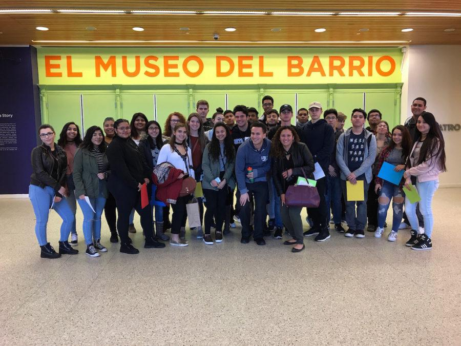 Ms. Sanchez' Spanish class visits a NYC museum to learn more about Caribbean, Puerto Rican and Latin American cultures.