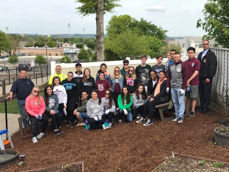 NHS members give back to their community for Earth Day