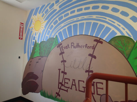 Becton art students, along with several teachers, created a warm atmosphere in the East Rutherford Little League Clubhouse.