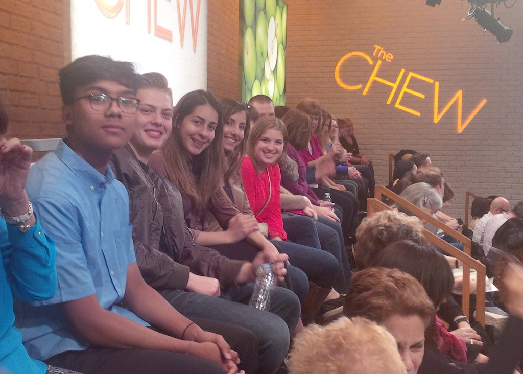 Culinary+students+are+sitting+in+the+audience+waiting+for+the+show+to+begin+filming.