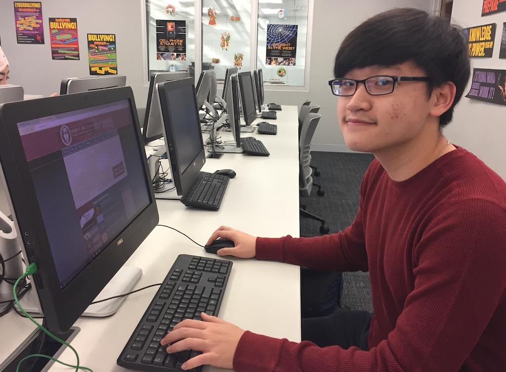 Junior Gene Lee is currently enrolled in Mr. Mendelsohn's Pre-Calculus Honors class.