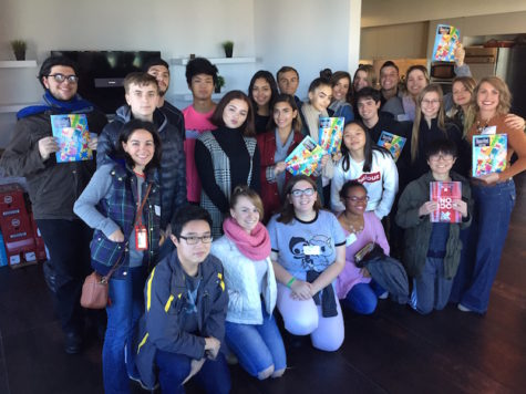 Students take 'time out' to visit NYC-based magazine
