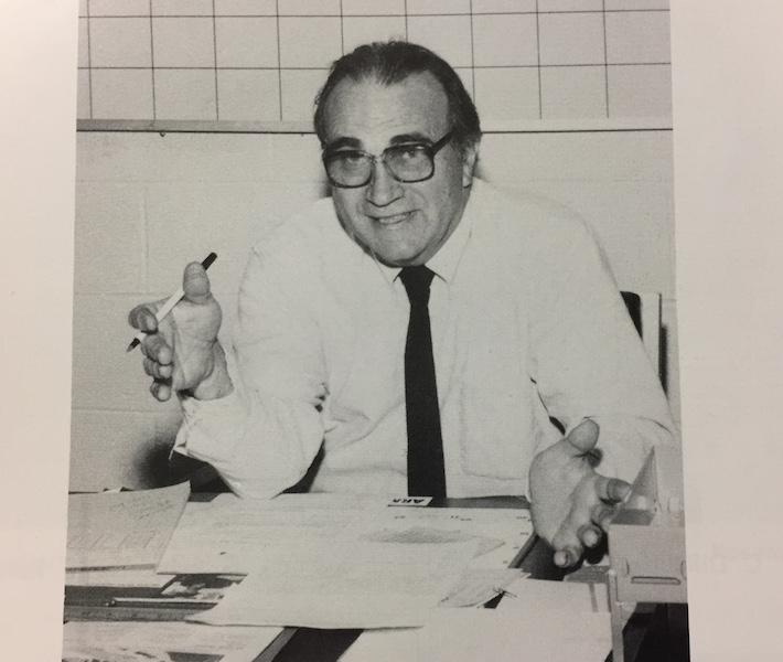Mr.+Morris+as+principal+of+Becton+Regional+High+School+in+1989